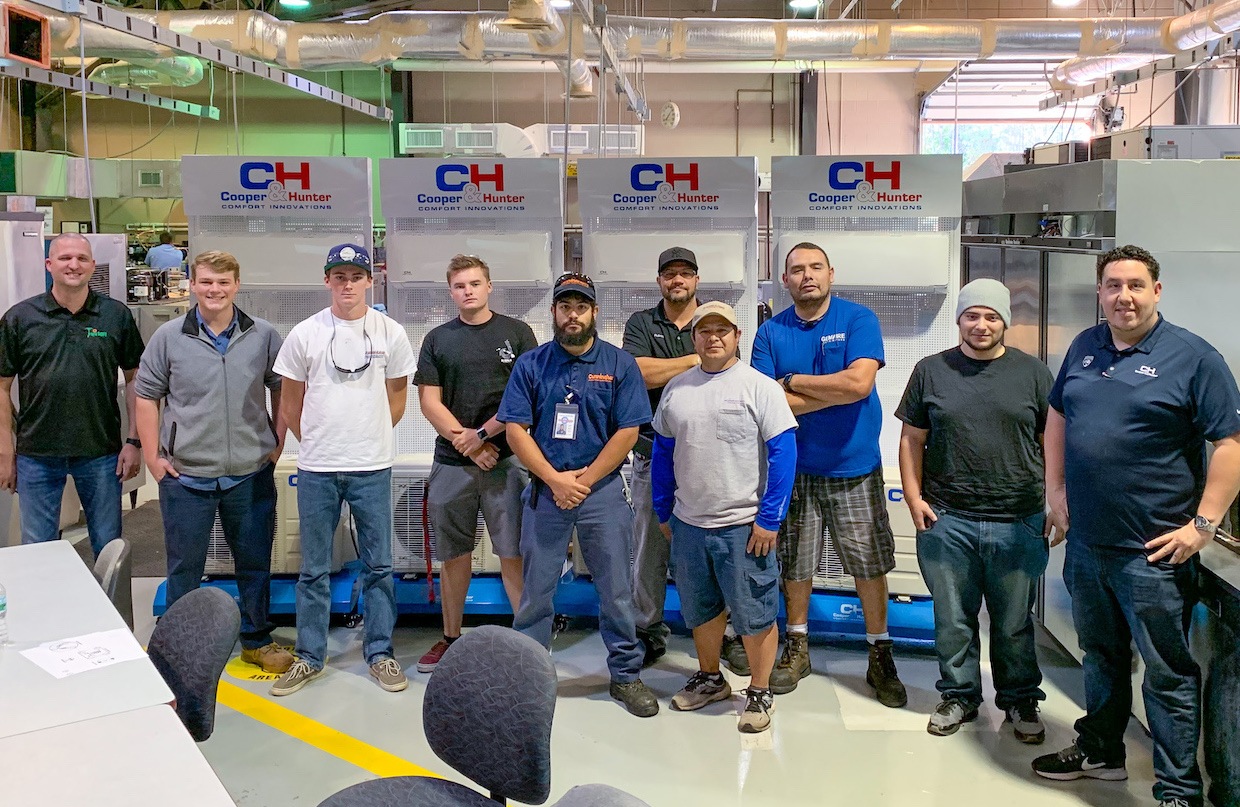 Cooper&Hunter and Tropic Supply team up to donate 6 Mini-split Training Modules to Daytona State College HVACR Program